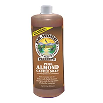 Dr. Woods Pure Almond Castile Soap 32 oz Pack of 2
