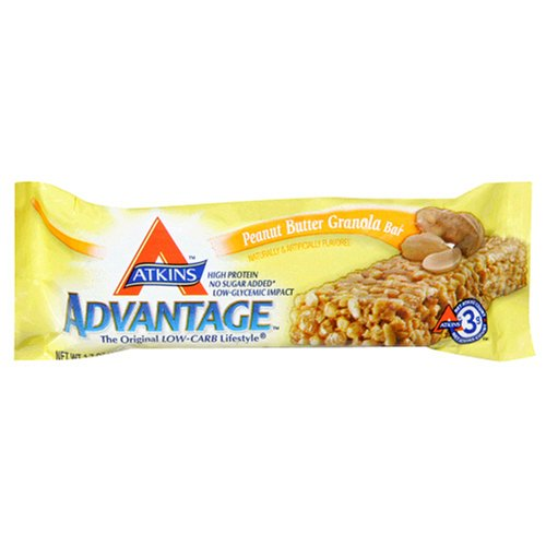 UPC 637480303446, Atkins Advantage Peanut Butter Granola Bar, 1.7-Ounce Bars (Pack of 15)