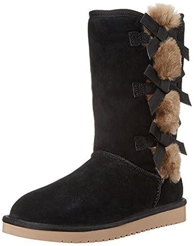 Koolaburra by UGG Women's Victoria Tall Fashion Boot, Black, 09 M US - Faux Ugg Boots