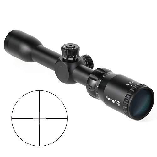 (Natwag 3-9x32 Rifle Scope- 1INCH Tube, Second Focal Plane Tactical Rifle Scope for Hunting and Shooting)