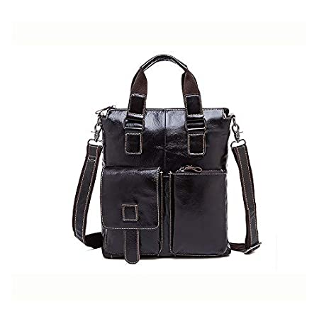 Color : Dark Coffee Color, Size : 306.535 cm Douhuayu Mens Leather Handbag top Layer Leather Casual Business Briefcase Shoulder Messenger Bag