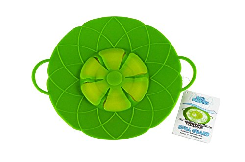 Southern Homewares SH-10081 Boil Buddies Silicone Boil Over Spill Stopper Splatter Guard Pot Pan Lid Cover, 10-Inch, Green