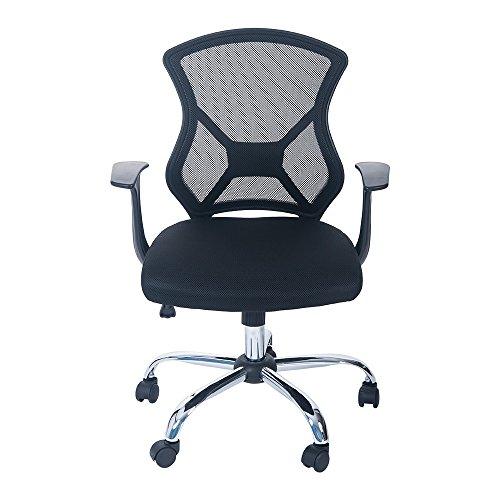 Merax Swivel Mesh Office Desk Task Chair with Armrest (Black)