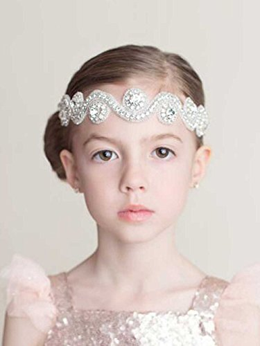 Unicra Wedding Flower Girl Headband Baby Rhinestones Headband Headpiece Decorative Hair Accessories for Flower Girls