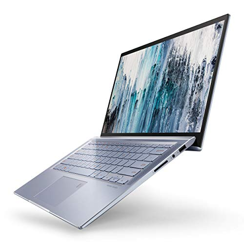 "ASUS ZenBook 14 Ultra Thin & Light Laptop, 4-Way NanoEdge 14"" Full HD, Intel Core I5-8265U, 8GB RAM, 256GB Nvme PCIe SSD, Wi-Fi 5, Windows 10, Silver Blue, UX431FA-ES51"