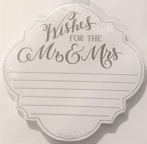 - Elegant Blooms & Things Wedding Wishes Notepad for The Mr. & Mrs. Advice, Ruled,