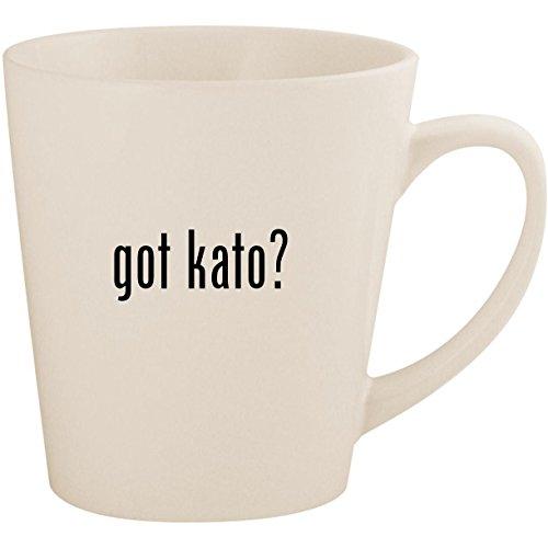 got kato? - White 12oz Ceramic Latte Mug Cup