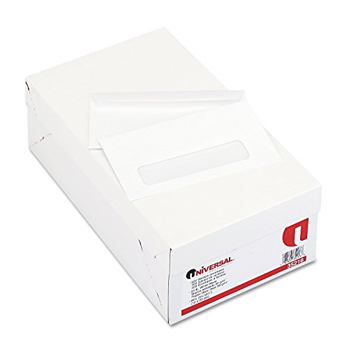 Universal 35216 Window Business Envelope, #6 3/4, 3 5/8 x 6 1/2, White (Box of 500)