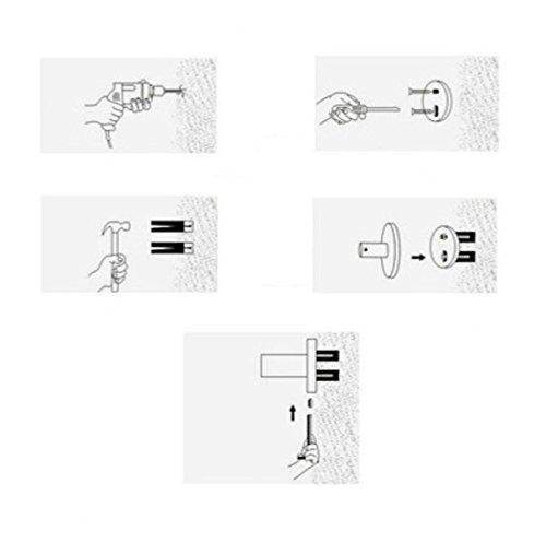 GL&G European luxury black Bathroom Bath Towel Rack Double Towel Bar With hook Bathroom Storage Organizer Shelf Bathroom Accessories Holder Towel Bars Wall Mount Towel Bars,6023.513.5cm by GAOLIGUO (Image #5)