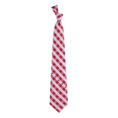 Ohio State Check Poly Necktie