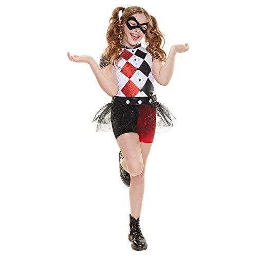 Disfraz de Harley Quinn para niñas y para Todas Ocasiones de Superhéroes de  DC Comics 7a14fa210106