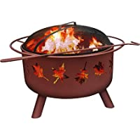 Landmann 25282 Barrone Fire Pit with Cov...