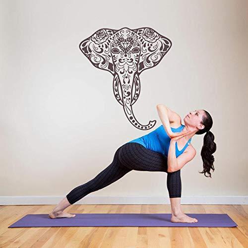 Ganesh Elephant Head - BYRON HOYLE Wall Window Decal Sticker Elephant Head Ganesh God Yoga Hindu Namaste Yoga Studio Bedroom 935b