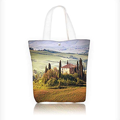 Cheap  Canvas Beach Bags Tuscan Tuscany Seen from Stone Village of Montepulciano Italy..