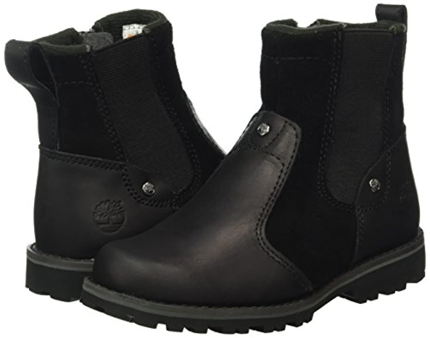 Timberland Asphalt Trail, Unisex Kids' Chelsea Boots, Black (Black Connection), 1 UK (33 EU)