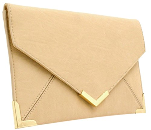 Trim Gold Small Clutch Flat Neon Bag Summer Girly Nude Envelope HandBags Beige Vintage New Ladies qBx1nv7z