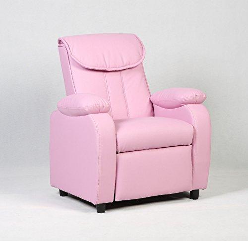 Costzon Deluxe Children Recliner Sofa Armrest Chair Living Room Bedroom Couch Home Furniture (Pink) by Costzon
