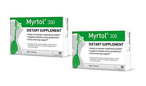 Myrtol 300, 2 Pack - Most Effective Natural Sinus Congestion Relief
