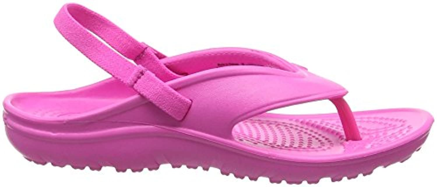Crocs Hilo Flip K NMgta, Unisex Kids' Open Back Slippers, Pink (Neon Magenta 6L0), 3 UK