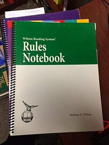 - Rules Notebook (Wilson Reading System)