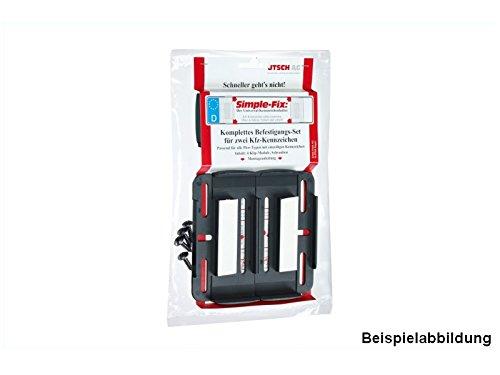 Kennzeichenhalter Rahmenlos Kunststoff Schwarz | Preishammer