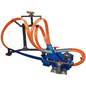 Amazon Hot Wheels Triple Track Twister Track Set Toys Games