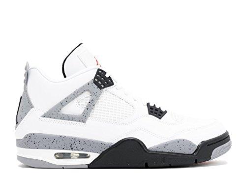 Nike Air Jordan 4 Retro BG Zapatillas de deporte, Niños white, black-cement grey