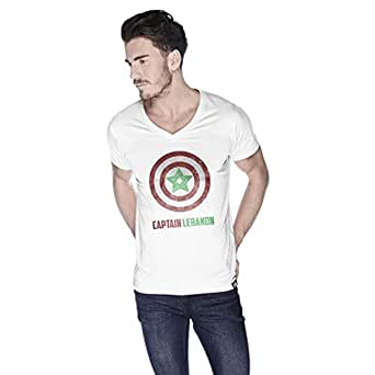 Creo Captain Lebanon T-Shirt For Men - M, White