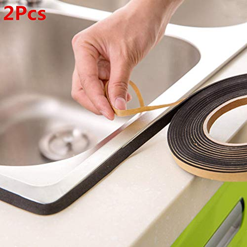 Waterproof Wall Sealing Tape Pulison Mold Proof Adhesive Tape Kitchen Bathroom All Weather Patch Tape Stretchy Sealing Tape for Roofing Patch Holes Cracks (LxW):3.2mx2.2cm/126''x0.86'' by Pulison (Image #7)