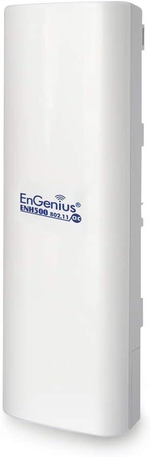 27dBm with 16 dBi High-Gain Antenna 2-Pack ENH500v3 KIT Long-Range PTP//PTMP EnGenius EnJet/™ Outdoor 5GHz AC Wave 2 WiFi 5 Plug-n-Go CPE//Client Bridge IP55