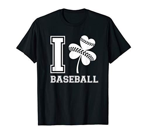 - I Love Baseball St Patricks Day Shirt For Women Men Kids