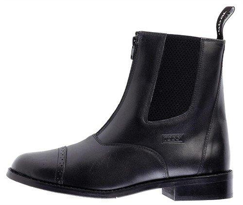 Toggi Augusta Zip-up Leather Jodhpur Boot In Black, Size: 5 (EU 38)