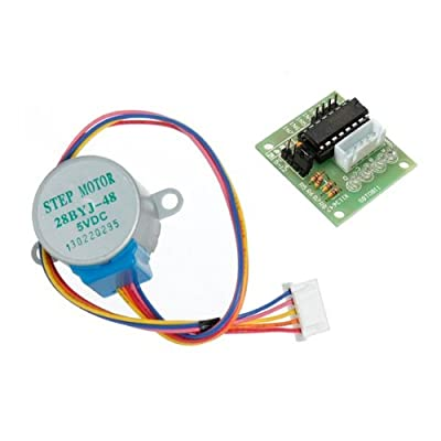 28YBJ-48 DC 5V 4 Phase 5 Wire Stepper Motor With ULN2003 Driver Board. from EVAccess76