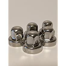 Alcoa, Lug Nut Covers (5 pieces) Hide a Lug, 19mm, Stainless Steel, 000135, 000120, Winnebago, Pleasure Way, Roadtrek - Set of 5 LugNuts, All Models 2006 through 2016