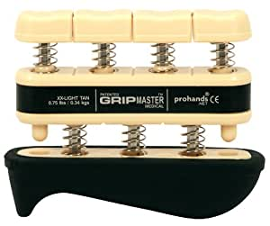 The Grip Master Gripmaster Medical Hand and Finger Exerciser, XX-Light, 0.75-Pound, Tan