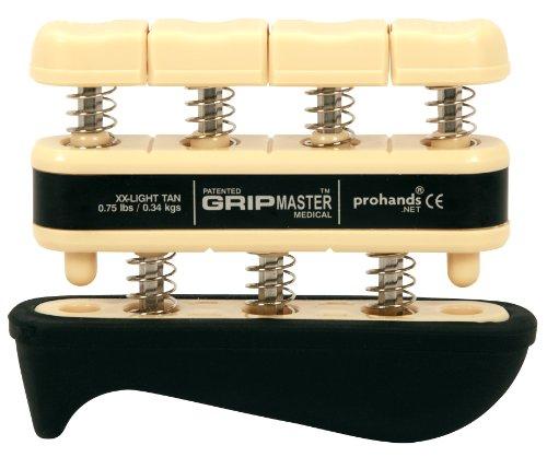 The Grip Master Gripmaster Medical Hand and Finger Exerciser, XX-Light, 0.75-Pound, Tan