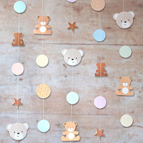 Hatton Gate Teddy Bear String Decorations 6 Strings Each 2 metres per Pack -