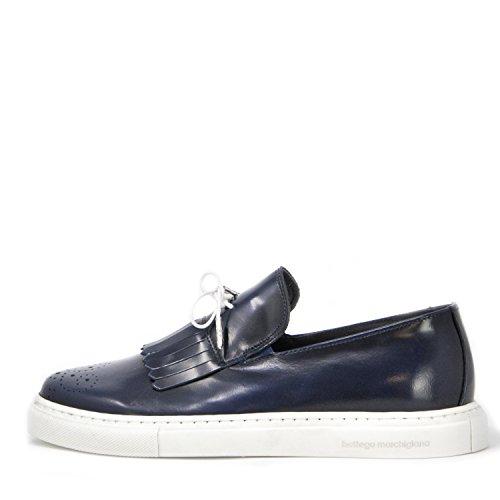 Bottega MARCHIGIANA Herren Schuhe Mokassin SBM-7 Blue