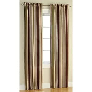 Amazon Com Mainstays Poly Duck Stripe Curtain Panel 56x63