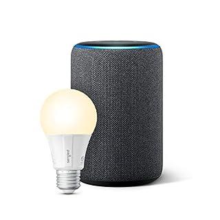 Echo Plus (2nd Gen) with Sengled Smart LED Bulb - Alexa smart home starter kit - Charcoal