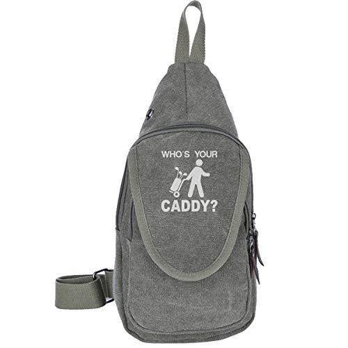 Cool Whos Your Caddy Golf Golfers Canvas Chest Pack, Sling Bag Shoulder Bag Crossbody Bags Multipurpose Bag For Women And Men
