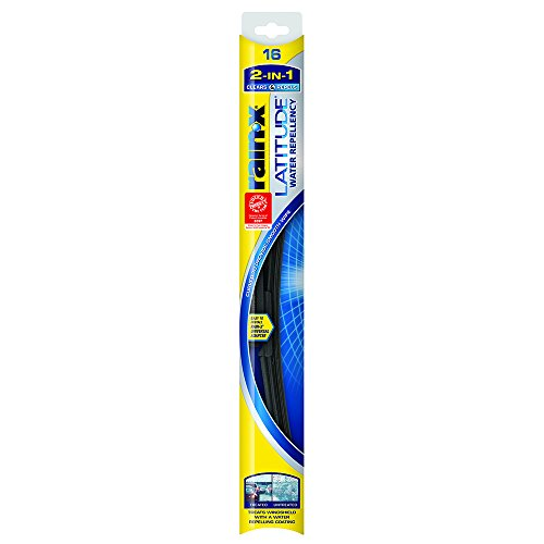 - Rain-X 5079274-2 Latitude 2-in-1 Water Repellency Wiper Blade - 16-inches