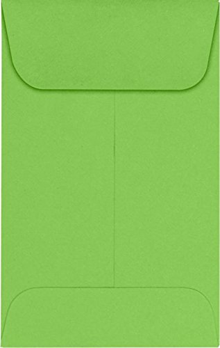 #1 Coin Envelopes (2 1/4 x 3 1/2) – Limelight (1000 Qty.) | Perfect for the HOLIDAYS, Weddings, Parties & Place Cards | Fits Small Parts, Stamps, Jewelry, Seeds | LUX-1CO-101-1M
