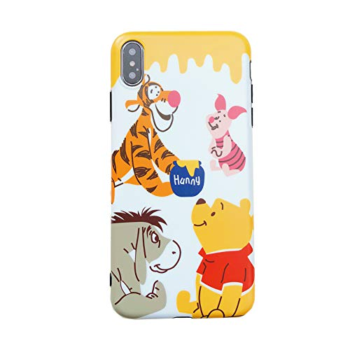 Ultra Slim Soft TPU Yellow Winnie The Pooh Case for iPhone Xs Max 6.5 Inch Bear Piglet Eeyore Tigger Shockproof Protective Walt Disney Cartoon Anime Cute Chic Lovely Cool Girls Teens Kids (Walt Disney Eeyore)