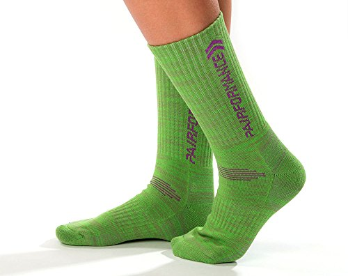 Womens Socks Sport 3 Pack Color by PAIRFORMANCE Multi Performance Athletic Cushioned Running Ankle Targeted Compression