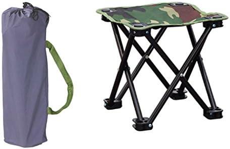 屋外折りたたみチェアカモポータブルキャンプビーチ釣りチェアホームバケーションピクニックバーベキュー折りたたみ小さなスツール (Size : L28*W28*H23cm)