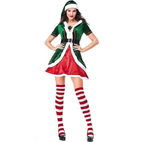 HORHIN Christmas Elf Cosplay Costume for Mens and