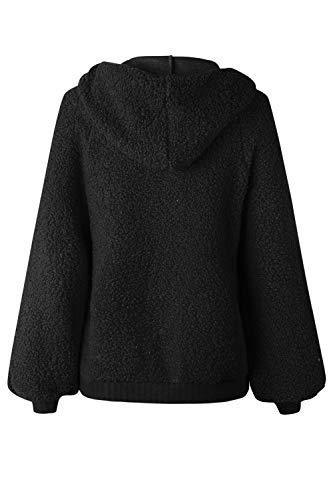 Sweat À Manteau Veste Zippée Survêtement Noir Yacun Capuche Femmes Tops Court HwqcY6a