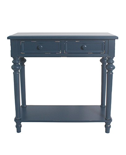 Urbanest Shelton Accent End Table 30 1/2inch Tall Blue