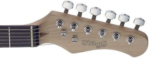 Stagg SET-CST BK Vintage Series Negro guitarra eléctrica: Amazon ...